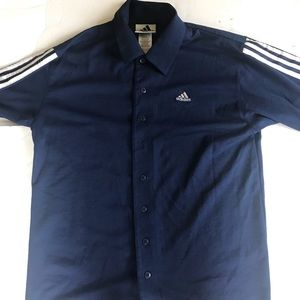 Vintage adidas polo button up short sleeve shirt